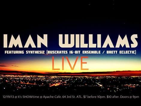 flyer-ImanWilliams_apache cafe_19dec2013
